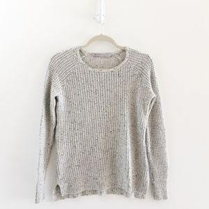 Athleta Lodge Cashmere Speckled Waffle Sweater